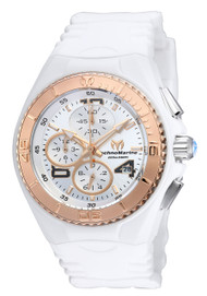 TechnoMarine Cruise JellyFish Chronograph Silver Dial Ladies Watch 115104