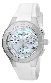 TechnoMarine Cruise Medusa Chronograph White Dial Ladies Watch 115083