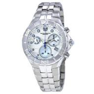 Technomarine Men's TM-715018 Sea Pearl Quartz White, Silver Dial Watch