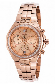 Technomarine Women's TM-416032 Eva Longoria Quartz Rose Gold Dial Watch