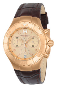 TechnoMarine Women's TM-416035 Eva Longoria Quartz 3 Hand Rose Gold Dial Watch