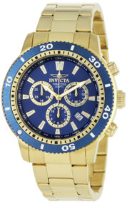 Invicta Men's 1205 Specialty Quartz Chronograph Blue Dial Watch