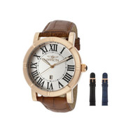 Invicta Men's 13972 Specialty Watch Set Silver Dial Brown Leather Watch with ...