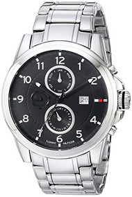 Tommy Hilfiger  Men's 1710296 Classic Stainless Steel Black Subdial  Watch To...