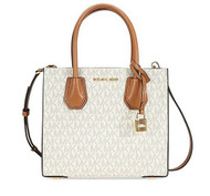 Michael Kors Mercer Signature Messenger Bag - Vanilla 30T7GM9M8V-150