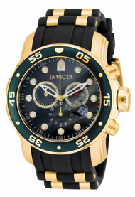 Invicta Men's 17886 Pro Diver Quartz Multifunction Green Dial Watch