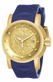 Invicta Men's 18215 S1 Rally Automatic Chronograph Gold Dial Watch