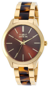 Invicta Women's 20498 Angel Quartz 3 Hand Brown Dial Watch