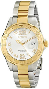Invicta Women's 12852 Pro Diver Gold Dial Two Tone Watch with Crystal Accents...