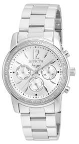 Invicta Women's 21714 Angel Quartz Chronograph Silver Dial Watch