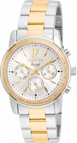 Invicta Women's 21715 Angel Quartz Chronograph Silver Dial Watch