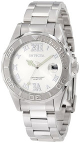 Invicta Women's 12851 Pro Diver Silver Dial Watch with Crystal Accents [Watch...