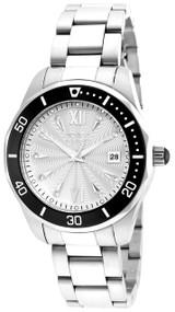 Invicta Women's 21907 Pro Diver Quartz 3 Hand Silver Dial Watch