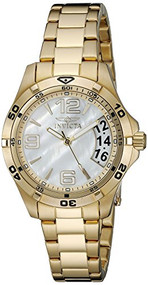 Invicta Women's 21372 Specialty Analog Display Swiss Quartz Gold Watch
