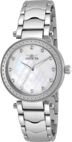 Invicta Women's 22193 Wildflower Quartz 3 Hand White Dial Watch