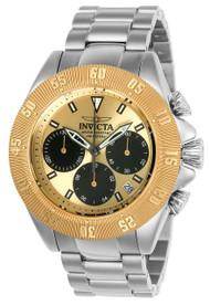 Invicta Men's 22398 Speedway Quartz Chronograph Gold, Black Dial Watch