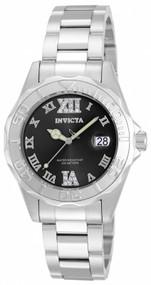 Invicta Women's 14349 Pro Diver Quartz 3 Hand Black Dial Watch