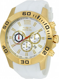 Invicta Men's 20298 Pro Diver Quartz Chronograph Silver Dial Watch