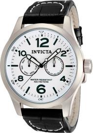 Invicta Men's 12171 Specialty Quartz 3 Hand White Dial Watch