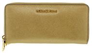 Michael Kors Women's Jet Set Travel Continental Saffiano Wristlet Leather Wallet Baguette - Pale Gold 32S5MTVE9M-740