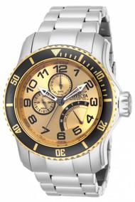 Invicta Men's 15337 Pro Diver Quartz Chronograph Gold Dial Watch