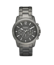 Fossil Men's FS4584 Stainless Steel Analog Grey Dial Watch