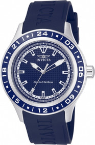 Invicta Men's 15224 Specialty Quartz 3 Hand Blue Dial Watch