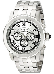 Invicta Men's 19467 Specialty Quartz Chronograph Silver Dial Watch