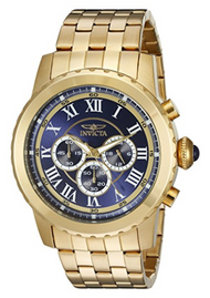 Invicta Men's 19468 Specialty Quartz Chronograph Blue Dial Watch