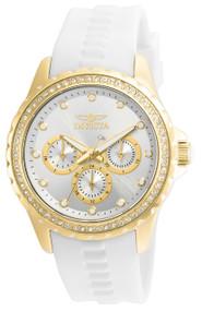 Invicta Women's 21900 Angel Quartz Chronograph Silver Dial Watch