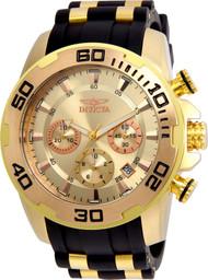 Invicta Men's 22342 Pro Diver Quartz Chronograph Gold Dial Watch