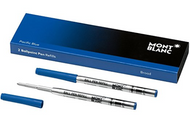 Montblanc Ballpoint Pen Refill Pacific Blue B (bold), 2 pieces 116214