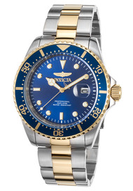 Invicta Men's 22058 Pro Diver Quartz 3 Hand Blue Dial Watch