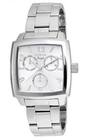 Invicta Women's 'Angel' Quartz Stainless Steel Casual Watch, Color:Silver-Toned (Model: 21709)