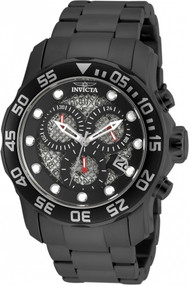 Invicta Men's 19838 Pro Diver Quartz 3 Hand Black Dial Watch