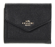COACH Women's Crossgrain Leather Small Wallet Li/Black Wallets 58298-LIBLK