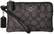 COACH Women's Box Program Signature Jacquard Small Wristlet Sv/Black Smoke/Black One Size 16113B-SVDK6