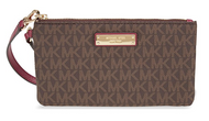 Michael Kors Medium Jet Set Wristlet- Brown and Mulberry 32S7GJSW2B-243