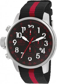 Invicta Men's 22845 I-Force Quartz Multifunction Black, Red Dial Watch
