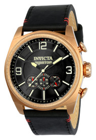 Invicta Men's 22986 Aviator Quartz Multifunction Black Dial Watch