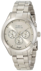 Invicta Women's 12465 Angel Silver Dial Stainless Steel Watch [Watch] Invicta