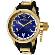 Invicta Men's 1437 Russian Diver Blue Dial Black Polyurethane Watch [Watch] I...