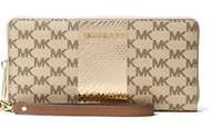 MICHAEL Michael Kors Center Stripe Jet Set Travel Logo Continental Wristlet Wallet, Natural 32S7MIJE4V-270