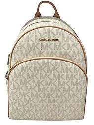 MICHAEL Michael Kors Abbey Jet Set Large Leather Backpack (Vanilla) 35S7GAYB3B-150