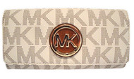 Michael Kors Women's Fulton Signature Long Continental Clutch Wallet 35T7GFTE1B-150