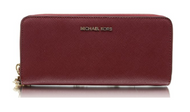 Michael Kors Money Pieces Travel Continental Saffiano Leather (Mulberry) 32S5GTVE9L-666