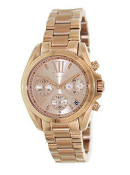 Michael Kor Women's MK5799 Bradshaw Rose Gold-Tone Stainless Steel Watch