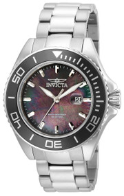 Invicta Men's 23068 Pro Diver Quartz 3 Hand Black Dial Watch