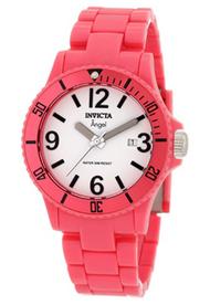 Invicta Women's 1209 Angel Quartz 3 Hand White Dial Watch