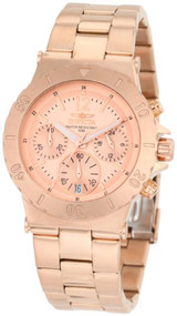 Invicta Women's 1277 II Collection Chronograph 18K Rose Gold Ion-Plated Stain...
